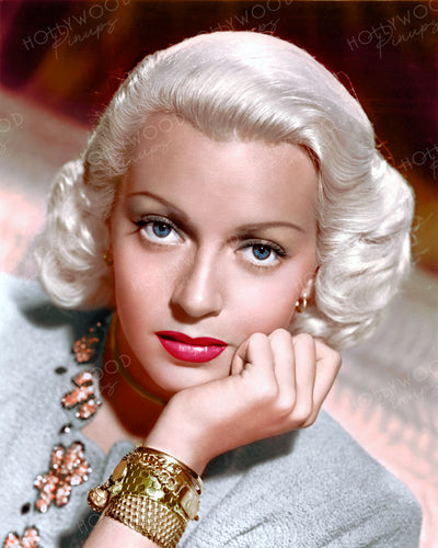 Lana Turner Bejewelled Blonde 1946 | Hollywood Pinups | Film Star Colour and B&W Prints