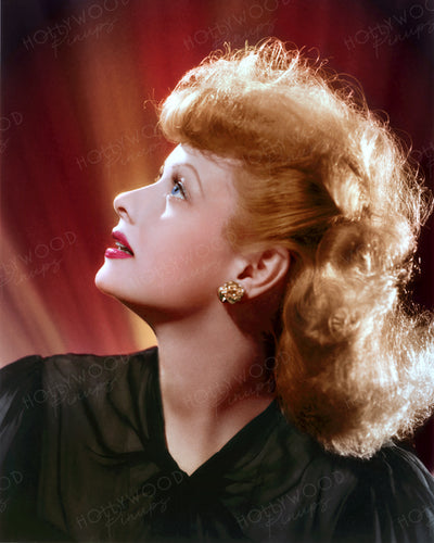 Lucille Ball Luminous Profile 1942 by CLARENCE BULL | Hollywood Pinups | Film Star Colour and B&W Prints