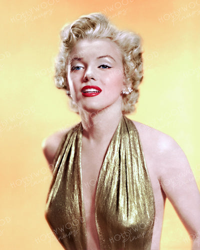 Marilyn Monroe Glittering Gold 1952 | Hollywood Pinups | Film Star Colour and B&W Prints