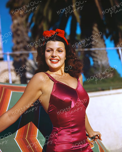 Rita Hayworth Bathing Beauty 1940 by JACK ALBIN | Hollywood Pinups Color Prints