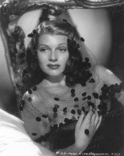 Rita Hayworth Netty Veil 1941 | Hollywood Pinups | Film Star Colour and B&W Prints