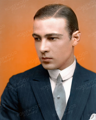 Rudolph Valentino Silver Tie 1923 | Hollywood Pinups | Film Star Colour and B&W Prints
