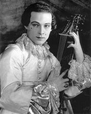 Rudolph Valentino Playing Mandolin 1924 | Hollywood Pinups | Film Star Colour and B&W Prints