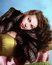 Yvonne De Carlo Lustrous Locks 1949 | Hollywood Pinups | Film Star Colour and B&W Prints