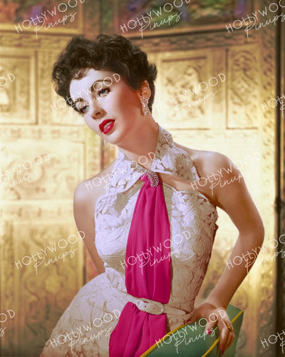 Elizabeth Taylor White Lace 1952 | Hollywood Pinups | Film Star Colour and B&W Prints