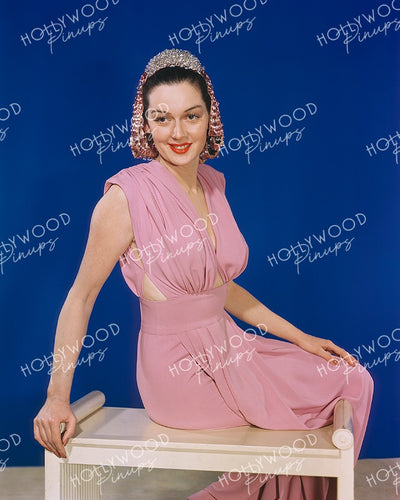Rosalind Russell Pink Glamour 1940s Kodachrome | Hollywood Pinups Color Prints