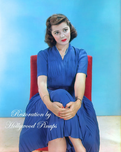 Ann Rutherford Blue Belle 1939 | Hollywood Pinups | Film Star Colour and B&W Prints