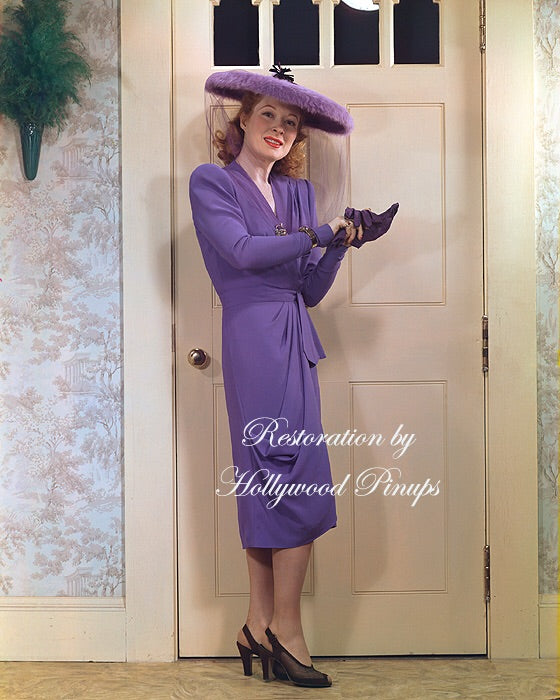 Greer Garson Lavender Belle 1943 | Hollywood Pinups | Film Star Colour and B&W Prints