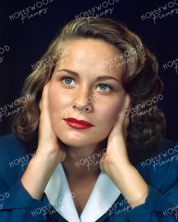 Alida Valli Azure Gaze 1948 KODACHROME | Hollywood Pinups Color Prints