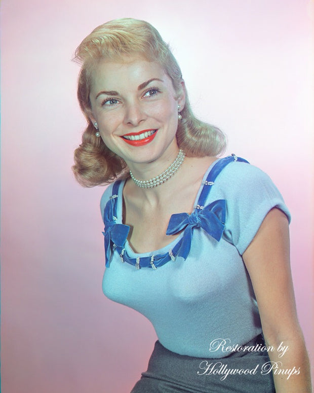 Janet Leigh Blue Belle 1955 | Hollywood Pinups | Film Star Colour and B&W Prints
