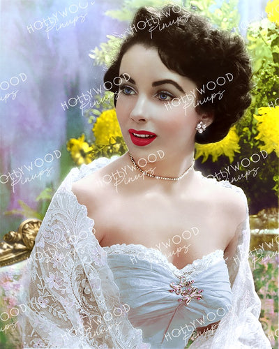 Elizabeth Taylor Lace Glamour 1949 | Hollywood Pinups Color Prints