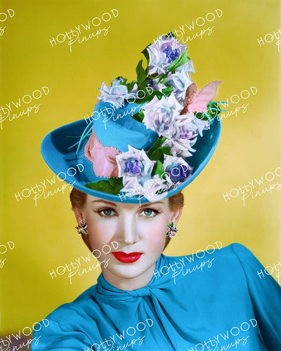 Louise Allbritton Blue Felt 1945 by RAY JONES | Hollywood Pinups Color Prints