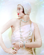 Myrna Loy Dazzling Profile 1930 by AUTREY | Hollywood Pinups Color Prints
