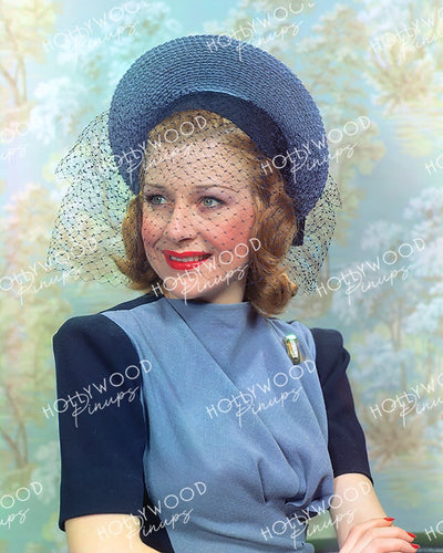 Shirley Ross Netty Veil 1940 | Hollywood Pinups Color Prints