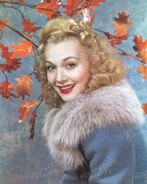 Carole Landis Autumn Leaves 1941 | Hollywood Pinups | Film Star Colour and B&W Prints