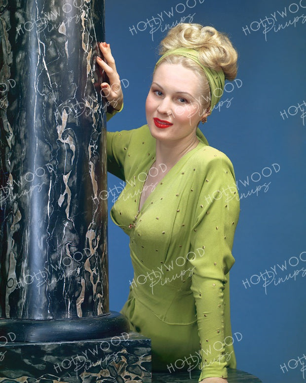 Virginia Mayo Dazzling Blonde 1944 | Hollywood Pinups | Film Star Colour and B&W Prints