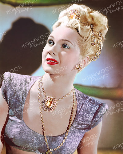 Adele Jergens Glittering Princess 1945 | Hollywood Pinups | Film Star Colour and B&W Prints