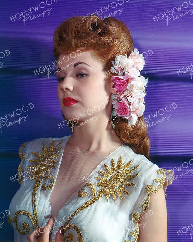 Marie McDonald Rose Beauty 1945 Kodachrome | Hollywood Pinups Color Prints
