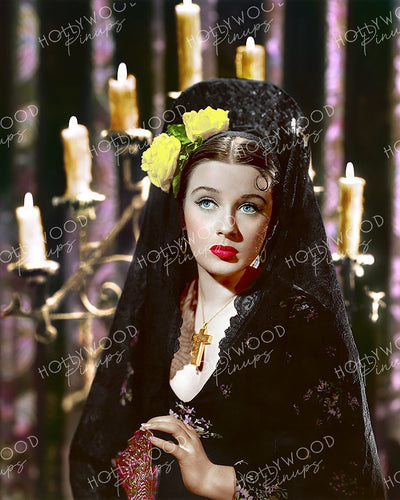 Patricia Morison Spanish Lace 1941 | Hollywood Pinups Color Prints