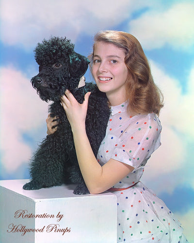 Pier Angeli Pet Poodle 1951 | Hollywood Pinups | Film Star Colour and B&W Prints