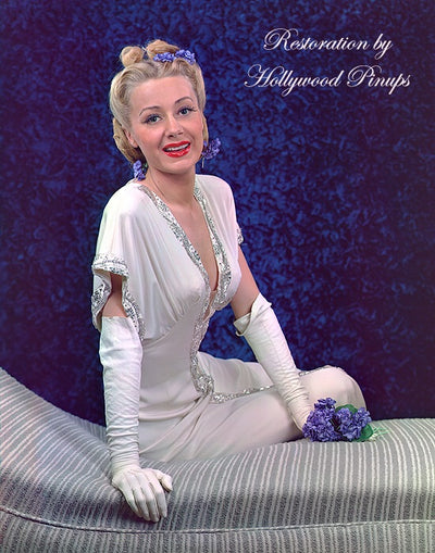 June Havoc Blue Violets 1943 | Hollywood Pinups | Film Star Colour and B&W Prints