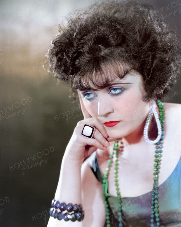Pola Negri Brooding Brunette 1924 | Hollywood Pinups | Film Star Colour and B&W Prints