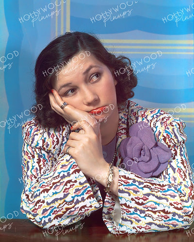 Patsy Kelly Pensive Pose 1940 | Hollywood Pinups Color Prints