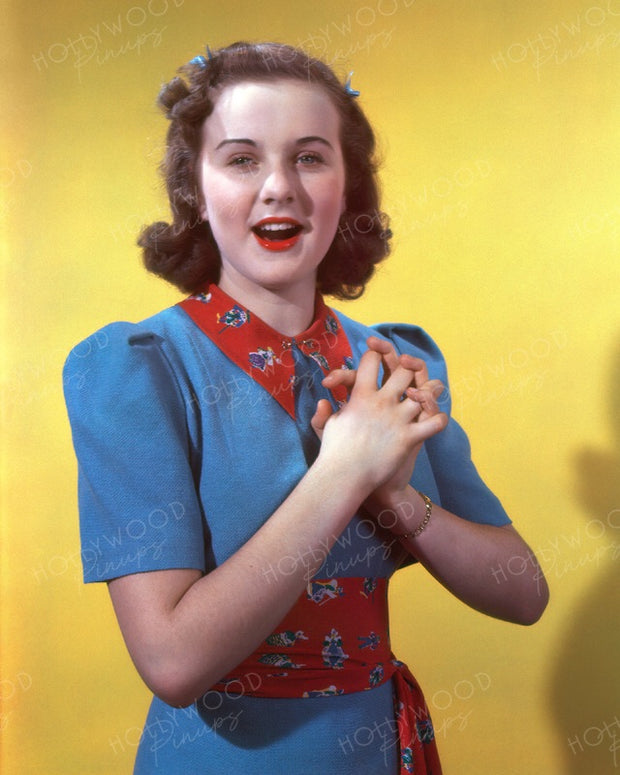 Deanna Durbin Singing Sensation 1938 | Hollywood Pinups | Film Star Colour and B&W Prints