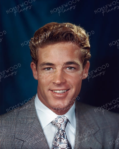 Guy Madison Beefcake Blonde 1946 KODACHROME | Hollywood Pinups | Film Star Colour and B&W Prints