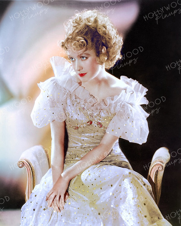 Miriam Hopkins Glittering Gown in BECKY SHARP 1935 | Hollywood Pinups Color Prints