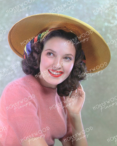 Linda Darnell Powder Pink 1940 - NEW ! | Hollywood Pinups | Film Star Colour and B&W Prints