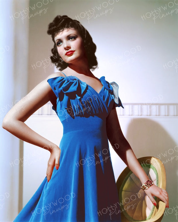 Linda Darnell Blue Velvet by FRANK POWOLNY 1939 | Hollywood Pinups | Film Star Colour and B&W Prints