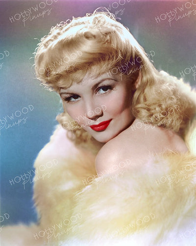 Veda Ann Borg Glistening Blonde 1940 | Hollywood Pinups | Film Star Colour and B&W Prints