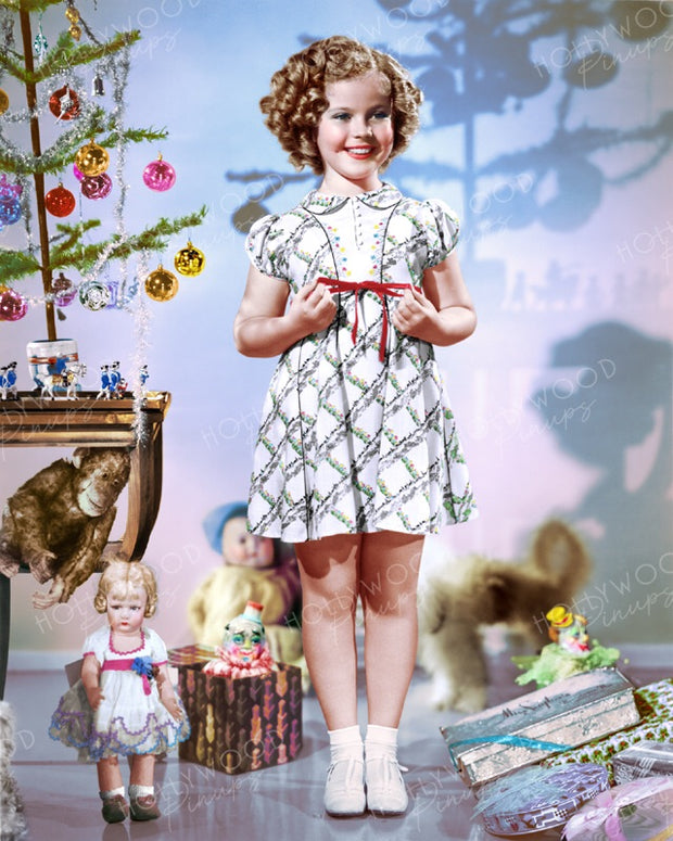 Shirley Temple Christmas Toys 1936 | Hollywood Pinups | Film Star Colour and B&W Prints