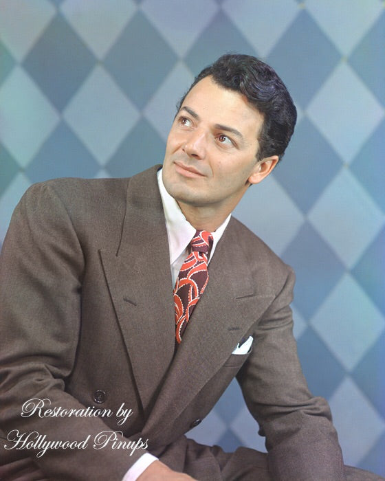 Cornel Wilde Dashing Star 1946 | Hollywood Pinups | Film Star Colour and B&W Prints