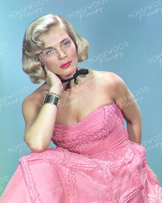 Lizabeth Scott Pastel Pink 1953 | Hollywood Pinups | Film Star Colour and B&W Prints