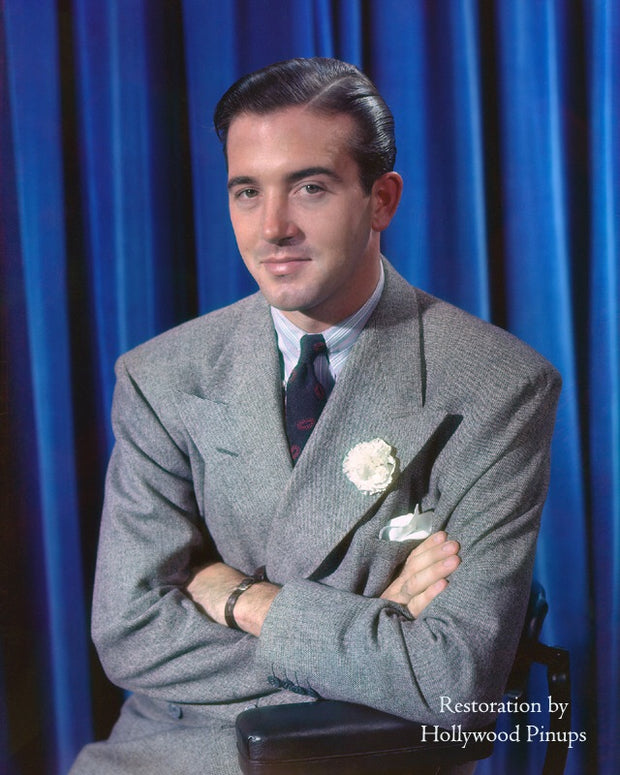 John Payne Cheeky Smirk 1938 | Hollywood Pinups | Film Star Colour and B&W Prints