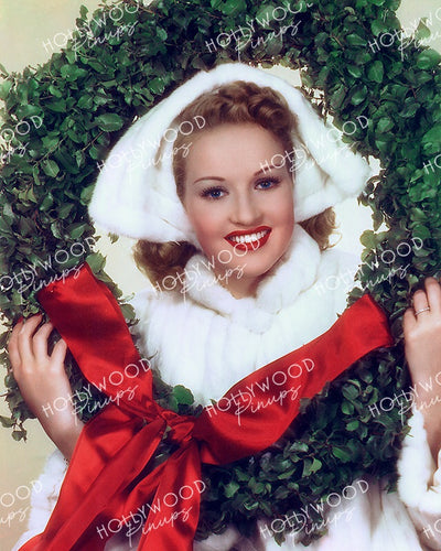 Betty Grable Christmas Wreath 1939 | Hollywood Pinups Color Prints