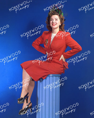 Ann Rutherford Leggy Pinup 1942 | Hollywood Pinups Color Prints