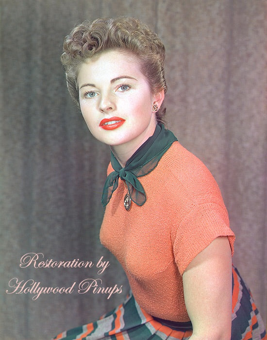 Coleen Gray Tangerine Top 1949 | Hollywood Pinups | Film Star Colour and B&W Prints