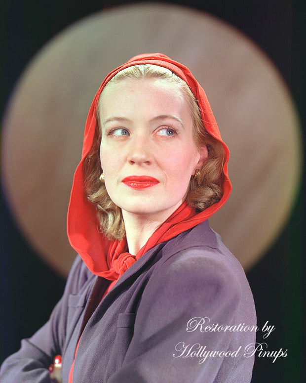 Ona Munson Hooded Beauty 1939 | Hollywood Pinups | Film Star Colour and B&W Prints