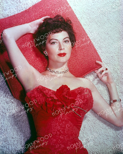 Ava Gardner Ravishing Red 1953 | Hollywood Pinups | Film Star Colour and B&W Prints