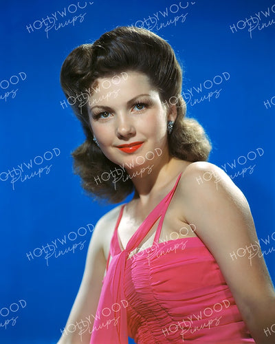 Anne Baxter Pretty Pink 1943 | Hollywood Pinups Color Prints