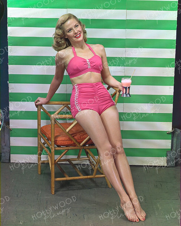 Janis Carter Bathing Beauty 1946 | Hollywood Pinups | Film Star Colour and B&W Prints