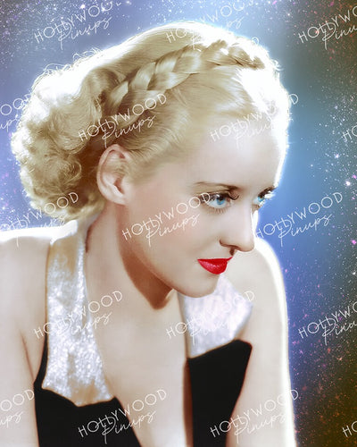 Bette Davis Blonde Braid 1934 by WELBOURNE | Hollywood Pinups Color Prints