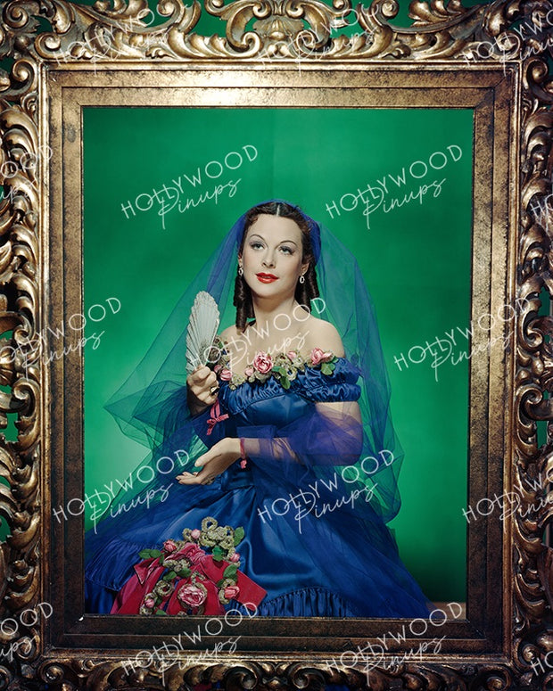 Hedy Lamarr Exquisite Beauty 1950 | Hollywood Pinups Color Prints
