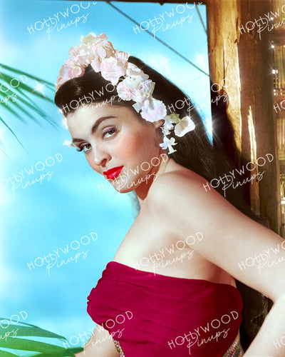 Suzan Ball in EAST OF SUMATRA 1953 | Hollywood Pinups Color Prints