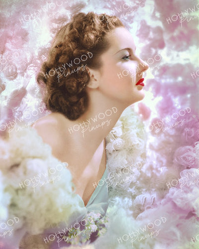 Barbara Read Dreamy Profile 1939 | Hollywood Pinups Color Prints
