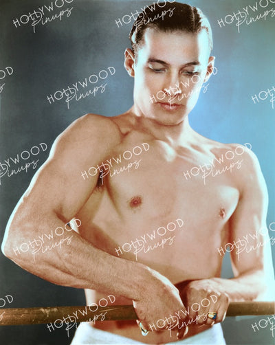 Rudolph Valentino Topless Workout 1920s - NEW ! | Hollywood Pinups | Film Star Colour and B&W Prints