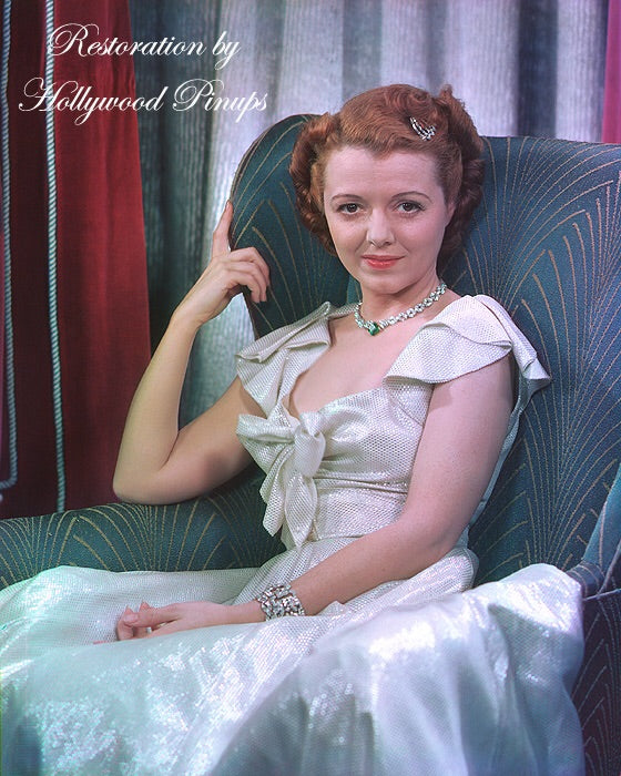 Janet Gaynor Glittering Sheen 1937 | Hollywood Pinups | Film Star Colour and B&W Prints